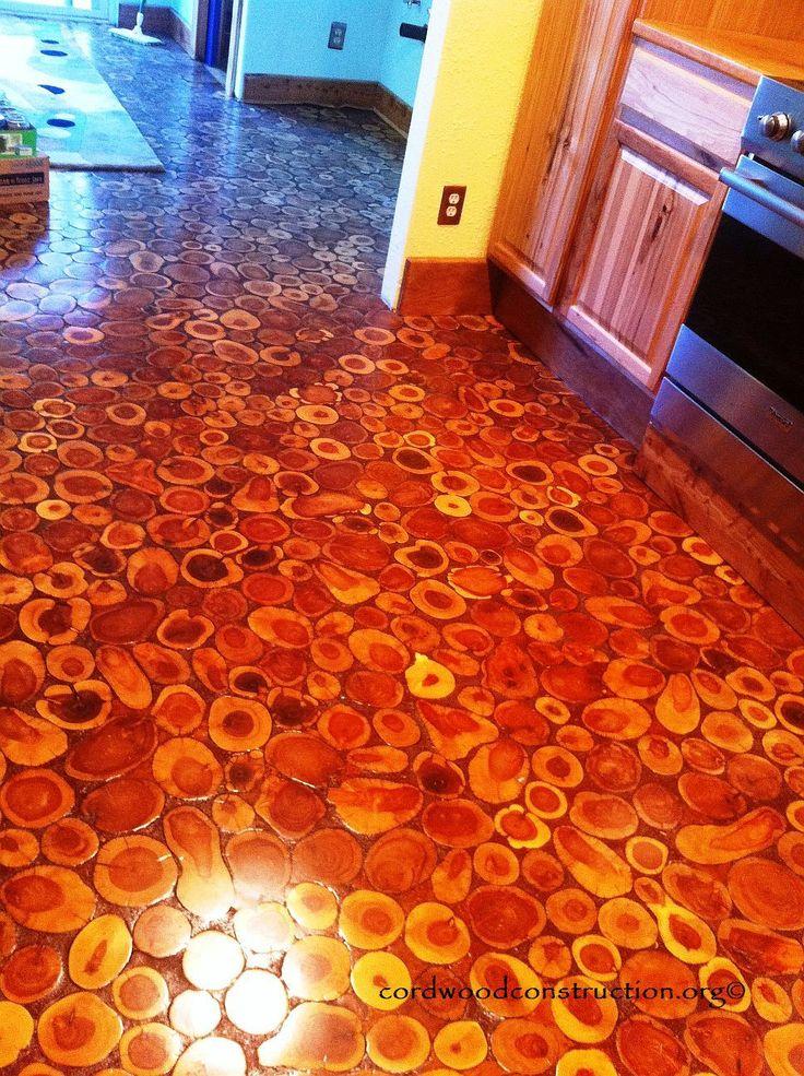 Cordwood Flooring By Sunny In Sunny Arizona House