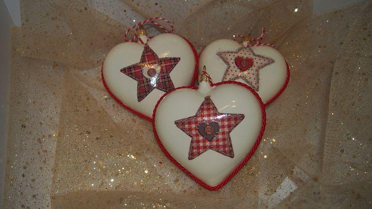 decoupage hearts