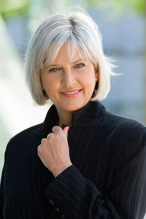 haircuts for gray hair over 50 - Google Search