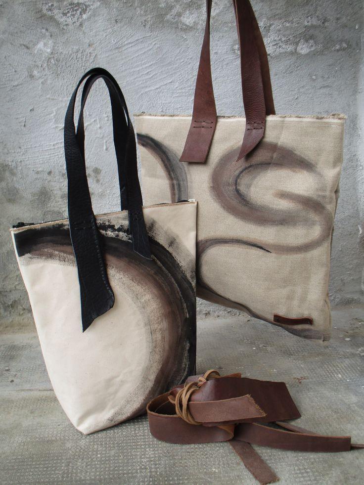 Oltre 25 fantastiche idee su borse fatte a mano su for Tele astratte dipinte a mano