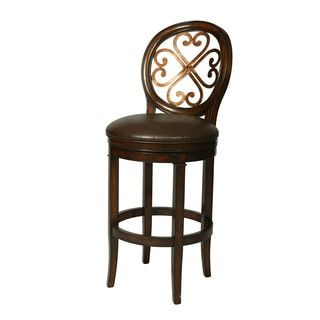 Shop for Devon Coast Cherry Wood/Faux Leather Swivel Stool. Get free shipping at Overstock.com - Your Online Furniture Outlet Store! Get 5% in rewards with Club O!