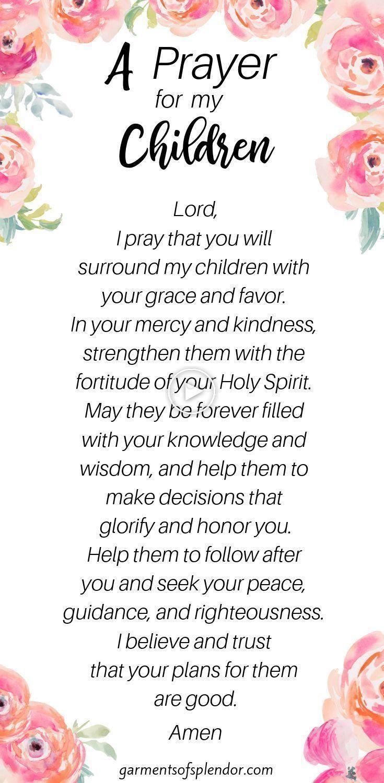 Welp 35 Schriften om te Bidden Over uw Kinderen (met Gratis QR-21