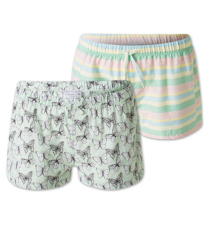 Pantalon de pyjama - Pack de 2 dans vert menthe