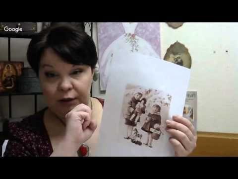 Людмила Михайловская Винтажная коробка открытка для печенья и сладостей - YouTube