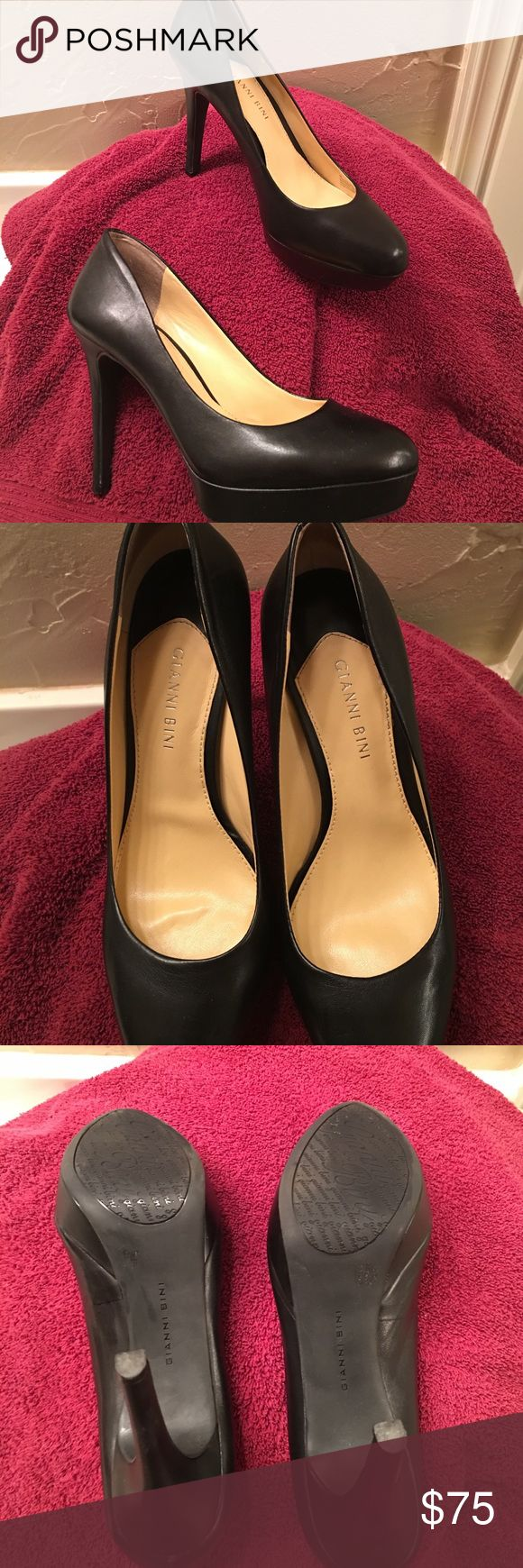 Gianni Bini platform shoes Black platform shoes by Gianni Bini. Sophisticated. Gianni Bini Shoes