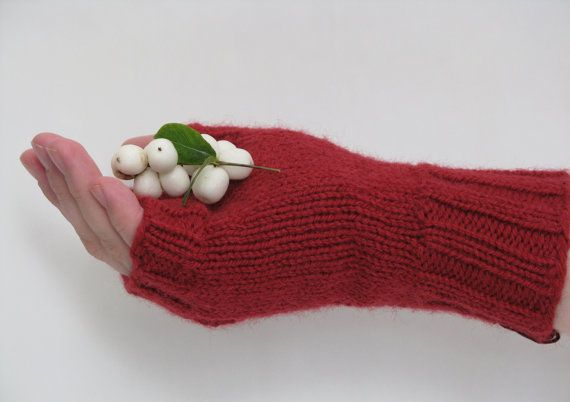 Knitted Fingerless Gloves Red Wool and by AGirlNamedMariaDK on Etsy #glove #gloves #fingerless #mitten #mittens #wrist #wrists #warmers #warmer #warm #red #cranberry #scarlet #winter #fall #autumn #fashion #denmark #danish #design #ribbed #ribbing #rib #pattern #lace #feminine #women #womens #woman #girl #girls #gift