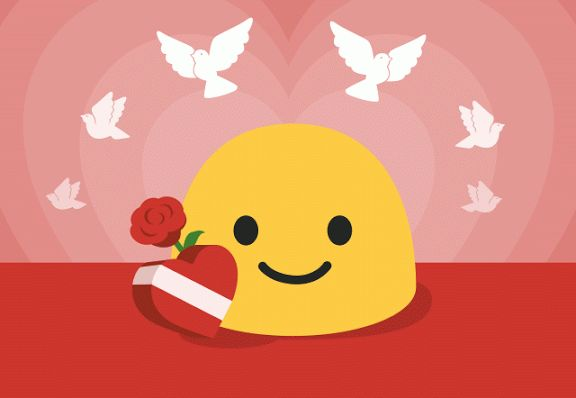 happy valentines emoji