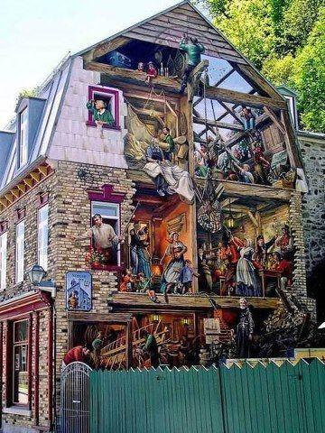 Murale faite au Québec.