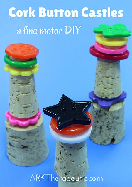 Cork Button Castles - A Fine Motor Activity