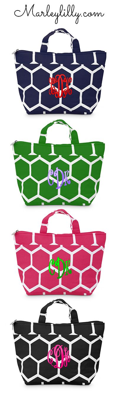 Monogrammed Lunch Bag for only $24.99 from marleylilly.com. #luchbox