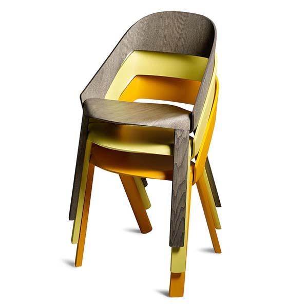 Jörg Boner, Wogg 50, a plywood stackable chair