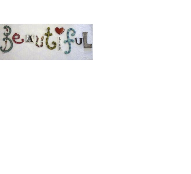Ceramic wall hanging - Beautiful Life by Hayley Hamilton, Monster.