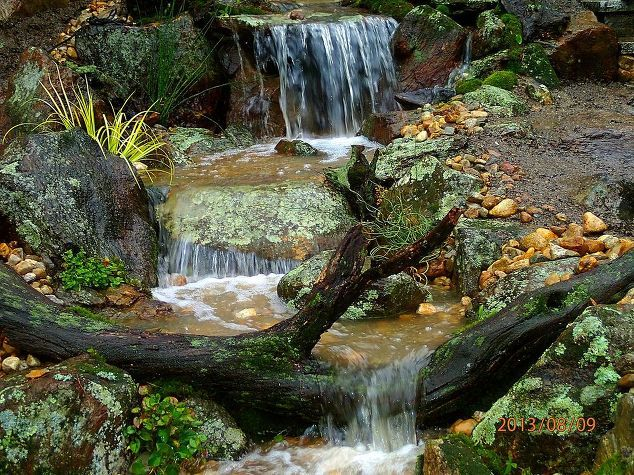 21 best rock water fall dry images on pinterest garden for Design of water harvesting pond