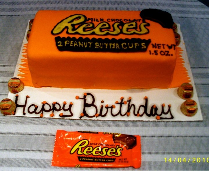 Peanut Butter And Reeces Birthday Cake