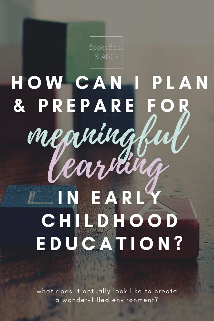 Meaningful Learning in Early Childhood Education