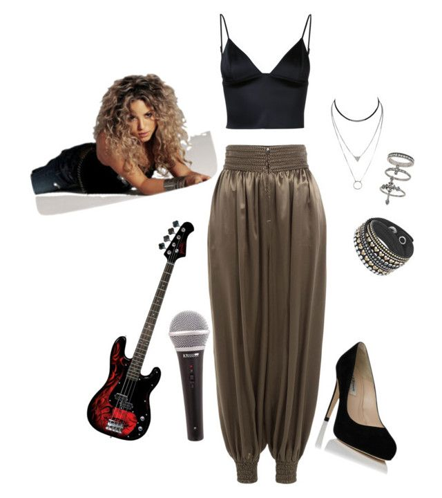 """shakira tour outfit"" by avigyle ❤ liked on Polyvore featuring Fendi, T By Alexander Wang and Miss Selfridge"