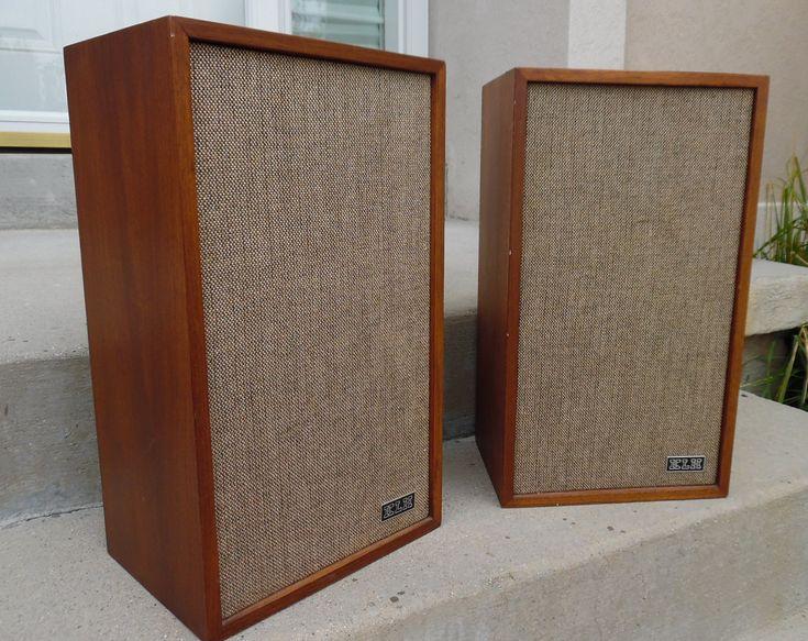 KLH Speakers Vintage Speakers Model Twenty-Four ~ 1960s Music Musician ~ Record Player Speakers ~ KLH Speakers Model 24 by RusticSpoonful on Etsy