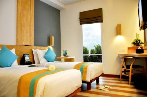 Superior room with comfy and warm colorful minimalist concept