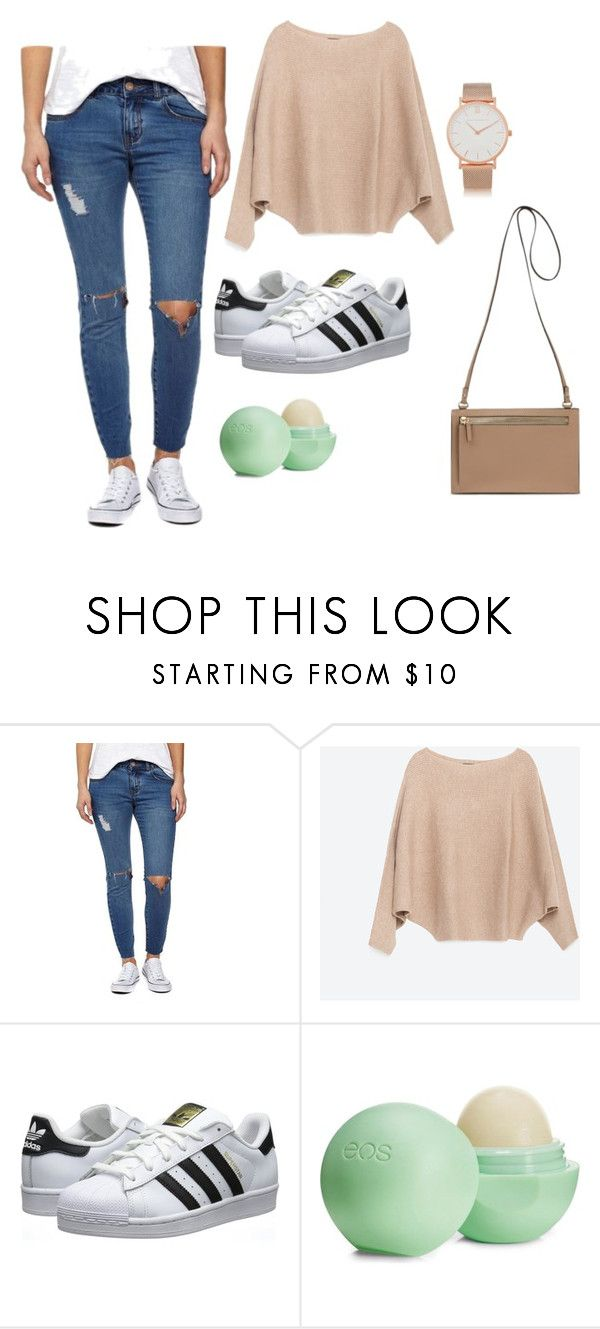 """WLS"" by keepsmileanna on Polyvore featuring Zara, adidas Originals, Eos and Larsson & Jennings"