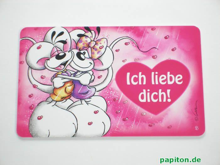 Diddl Funcard, Nr. 8, Ich liebe Dich! bei Papiton kaufen.