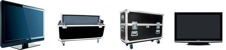 Flight Case o racks para pantallas televisores LCD Plasma LED