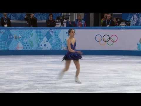 Mao Asada's sits 1st in women's free skate - Sochi 2014 Olympics - YouTube