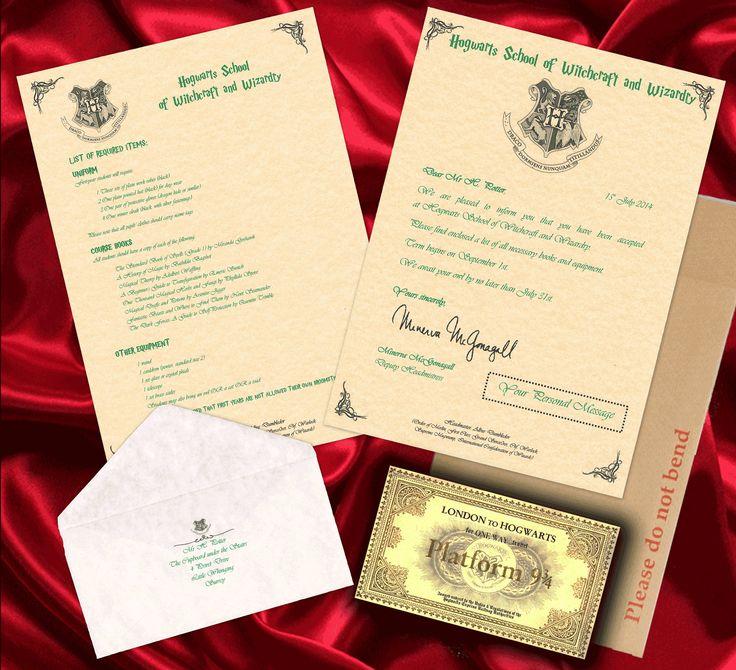 Hogwarts acceptance letter best birthday gift bundle for