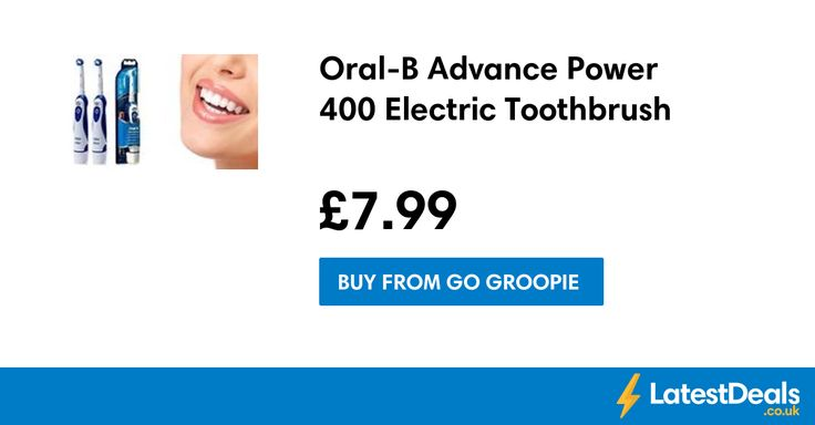 Oral-B Advance Power 400 Electric Toothbrush, £7.99 at Go Groopie