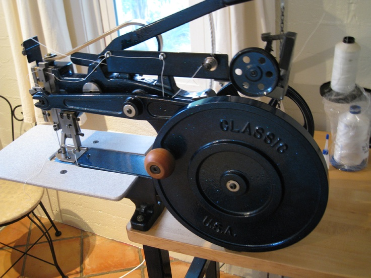 My Luberto leather stitcher. #sewing_machine #leather_stitcher