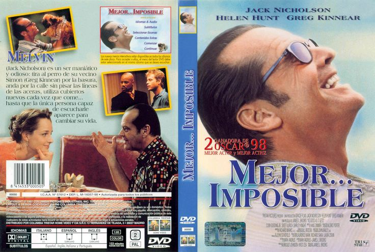 Carátula Caratula de Mejor Imposible (As Good As It Gets)