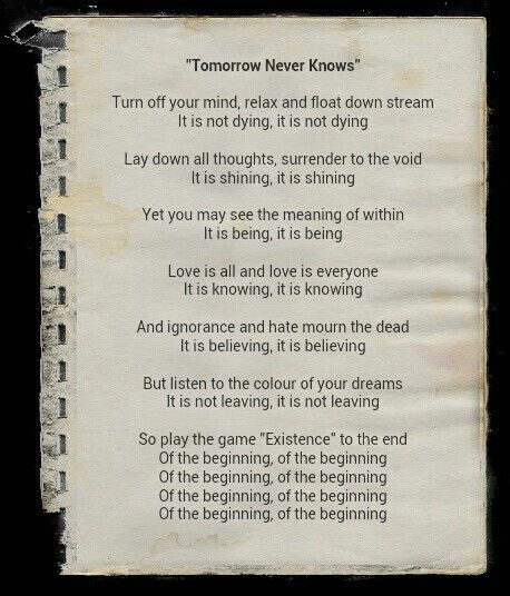 """The Beatles--""""Tomorrow Never Knows"""""""