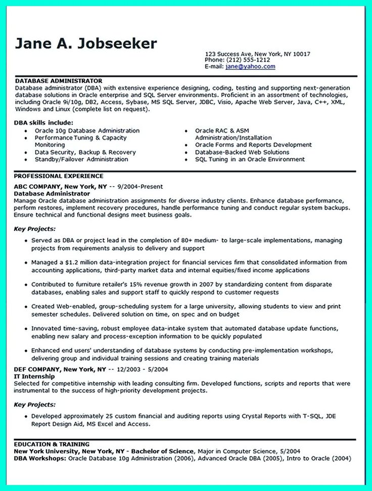 52 best Information Technology (IT) Resume Templates \ Samples - linux administrator resume