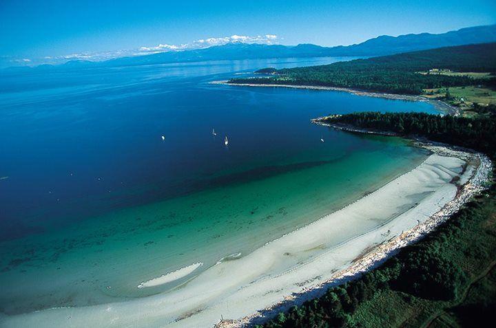Tribune Bay Provincial Park on Hornby Island, BC