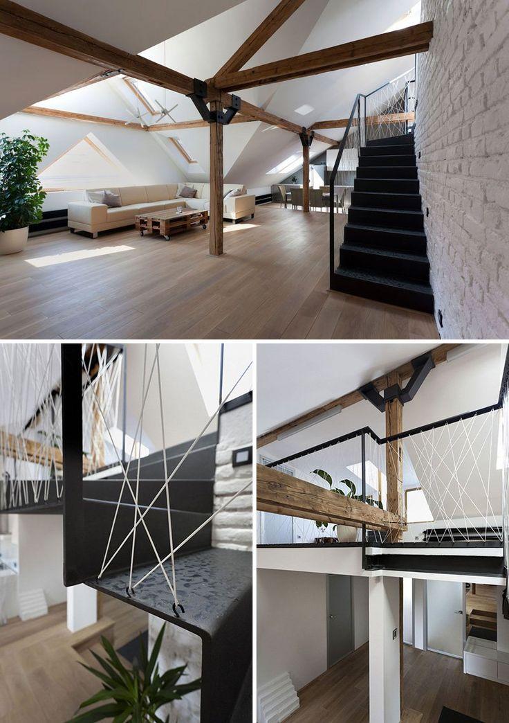 originales barandillas de cuerdas pensadas para escaleras modernas with barandillas para escaleras interiores modernas