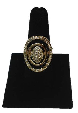 Elegant pavé crystal cocktail #gold #ring. Size 8. Plated with 18k gold, Limited one year manufactured warranty.