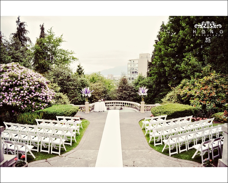 Hycroft Ceremony Juliet Balcony Vancouver Bc Wedding Venues