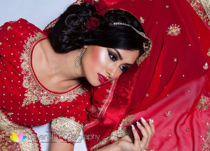 Asian bridal shoot Devanshi Photography Make-up and hair: Lubna Ali Model/actress: Rebecca Danielle Hanser