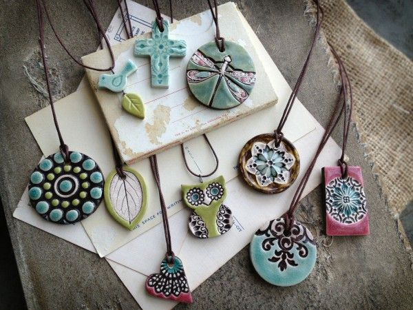 ideas for clay essential oil infused pendants.