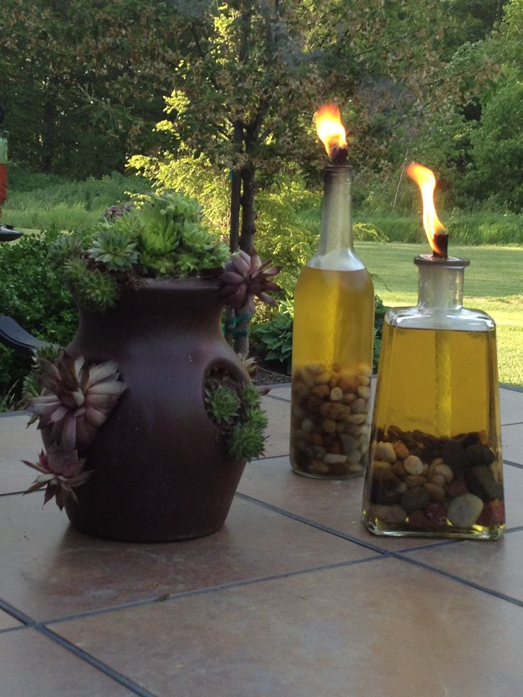 39 best images about judy 39 s junk on pinterest potting for Wine bottle patio lights