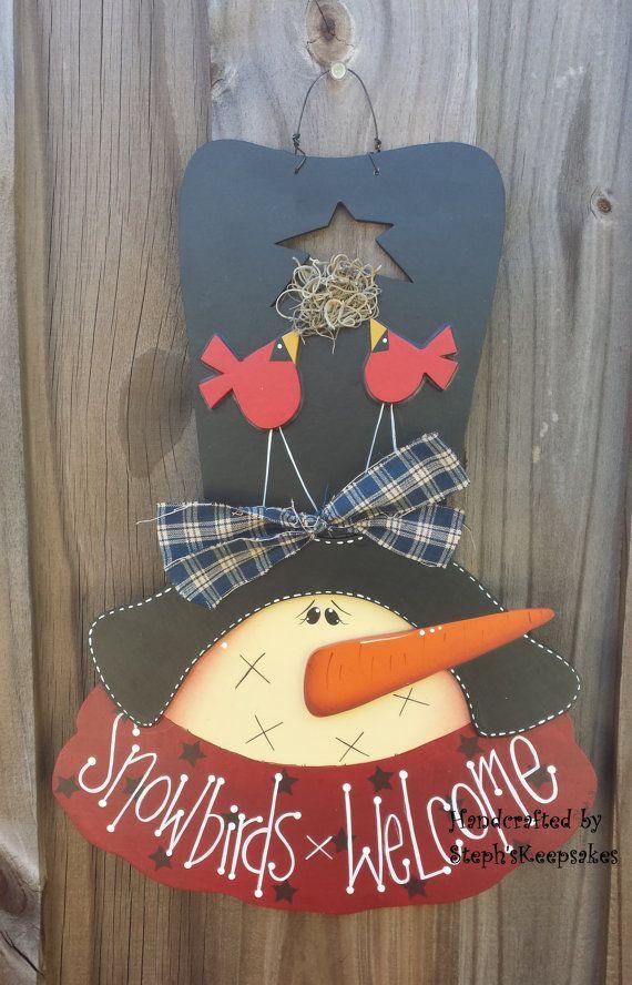 Snowbirds WelcomeWall Hanging Seasonal Home por stephskeepsakes
