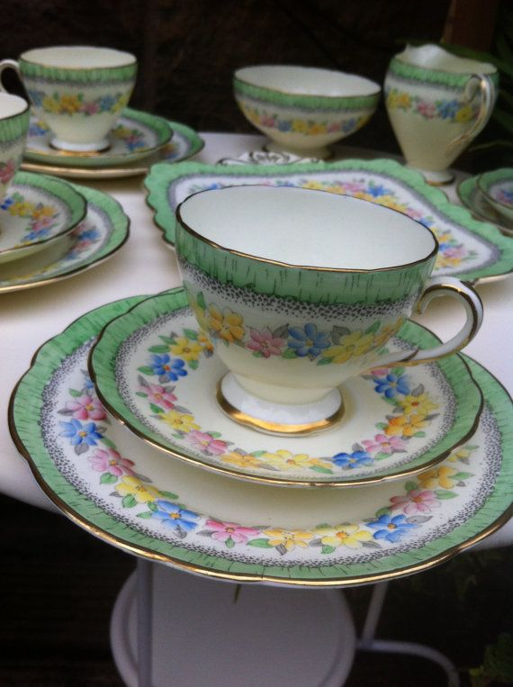 Scotland - Vintage Foley China tea cup trio by IvyRoseVintage on Etsy, £7.50