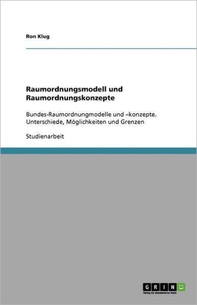 Raumordnungsmodell Und Raumordnungskonzepte