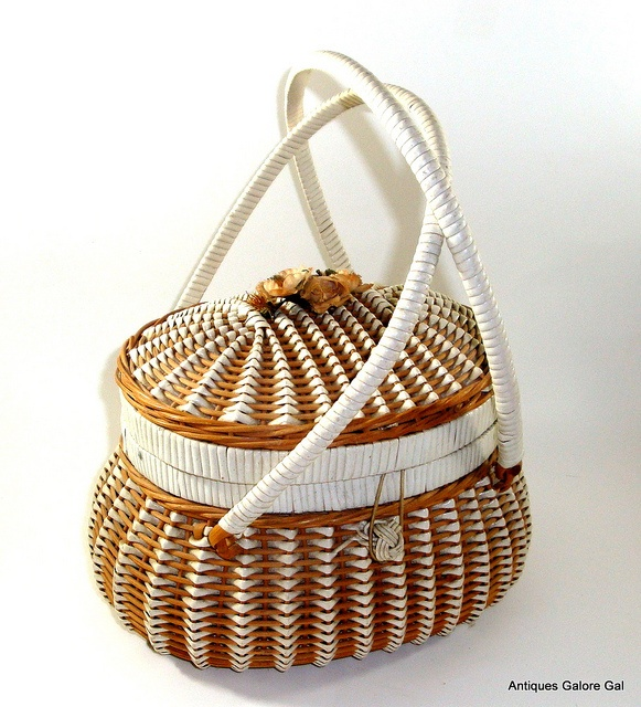 Vintage Woven Wicker Purse