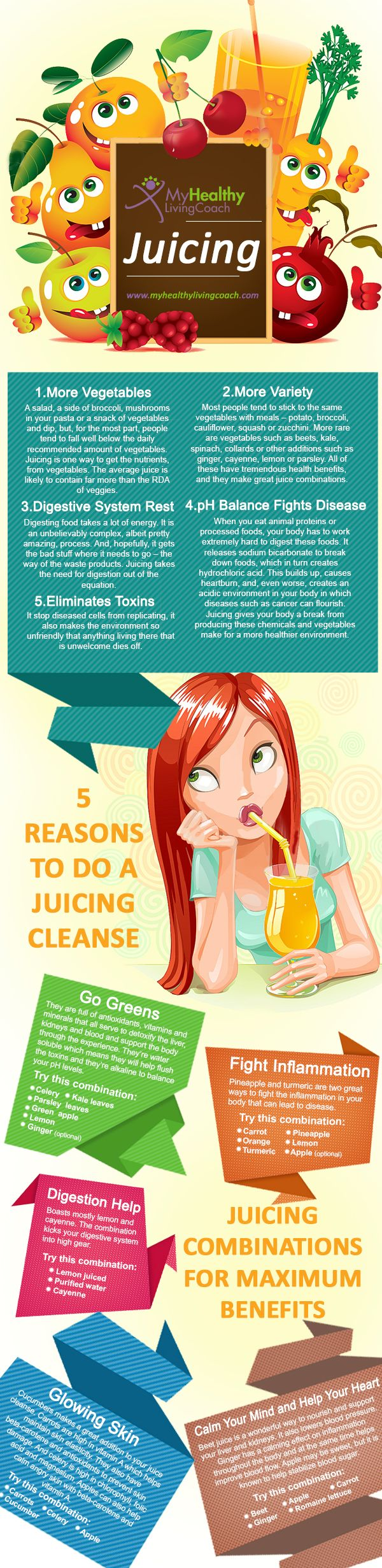 There are countless reasons to do a juice cleanse, but to get you started here is one great infographic which gives you 5 reasons to get started a healthy cleansing detox with juice! www.newleafdetoxresort.com