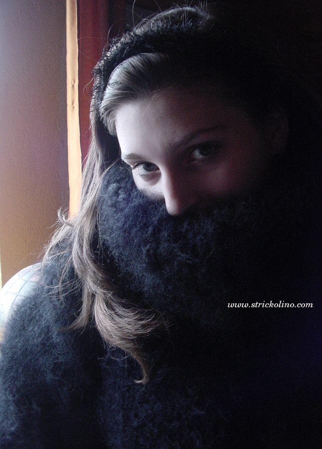 Mohair Pullover schwarz