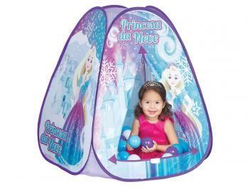 Toca Braskit Princesa da Neve Triangular - com 60 Bolinhas