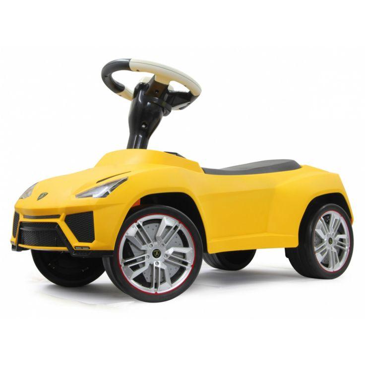 En populär sparkbil designad som en sportig Lamborghini Urus med noggranna detaljer. Förvaringsutrymme under sätet och tuta på ratten. Tillverkad av robust plast för att vara redo för spännande utflykter.  Gåbilar och sparkbilar är de små barnens favorit och en uppskattad födelsedagspresent, doppresent eller julklapp som barnen kommer att ha roligt med i många år.   Fakta Ålder 1,5 - 5 år. Storleksmått: 70 x 30,3 x 39,7 cm. Vikt: 2,7 kg. Licens: Lamborghini. Färg: Gul.  Detta är en…