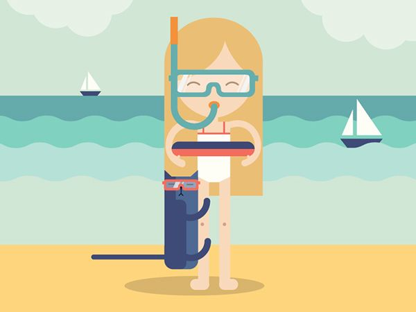 Summer time on Behance