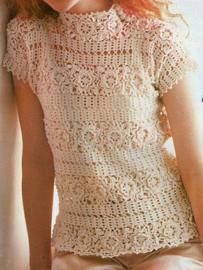 Romantic Buttenburg crochet lace tunic