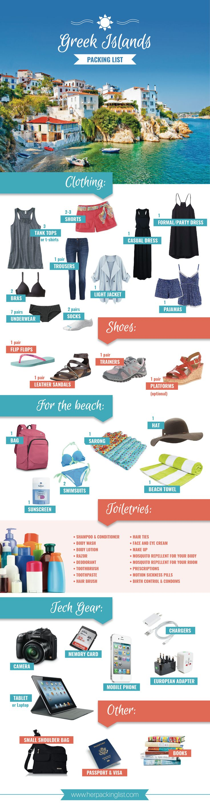 Tips On How To Pack For A Cruise - The ultimate greek islands packing list